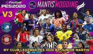آپشن فایل MyClub Legends V3 برای PES 2020 PS4 – مخصوص DLC 3.0