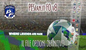 دانلود آپشن فایل PESFan V8 برای PES 2020 کنسول PS4