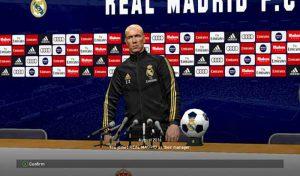 مود کیت مربی و اتاق کنفرانس رئال مادرید 2020 برای PES 2017