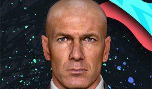 فیس Zinédine Zidane برای PES 2017 مربی رئال مادرید