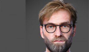 فیس Jürgen Klopp برای PES 2020 مربی لیورپول