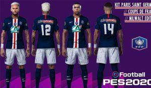 کیت PSG برای جام Coupe de France برای PES 2020