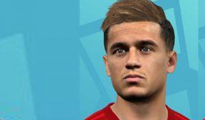 فیس Philippe Coutinho برای PES 2017 توسط A5 Facemaker