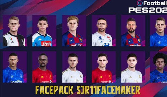 فیس پک new برای PES 2020 توسط Sjr11facemaker