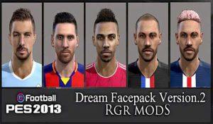 فیس پک دریم v2 برای PES 2013 توسط Rgr Mods