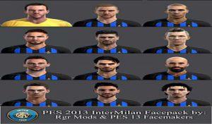 فیس پک Inter Milan برای PES 2013 توسط Rgr Mods