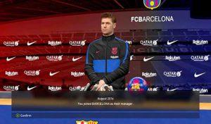 مود کیت مربی و اتاق کنفرانس بارسلونا برای PES 2017