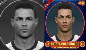 دانلود فیس Cristiano Ronaldo v8 برای PES 2017