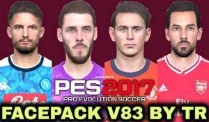دانلود فیس پک v83 برای PES 2017 توسط TR