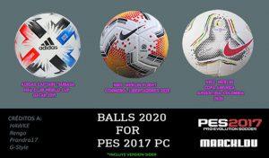 دانلود توپ های PES 2020 برای PES 2017 توسط Team