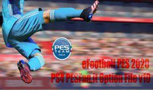 دانلود آپشن فایل PESFan V10 برای PES 2020 کنسول PS4