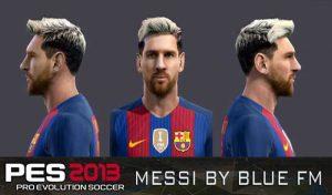 فیس و موی 2020 Leo Messi برای PES 2013 توسط BLUE Facemaker