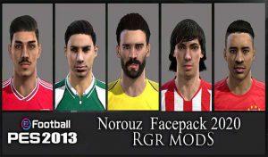 فیس پک Norouz 2020 برای PES 2013 توسط Rgr Mods