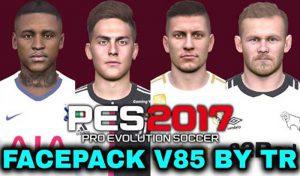 دانلود فیس پک v85 برای PES 2017 توسط TR
