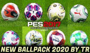 دانلود پک توپ فصل 2020 برای PES 2017 توسط TR