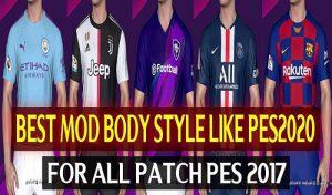 مود مدل بدن Body Style With Textures برای PES 2017