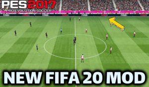 مود جدید گرافیک FIFA 20 برای PES 2017 توسط SHSDF