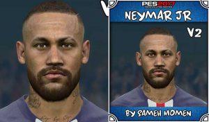 فیس Neymar V2 با تتو برای PES 2017 توسط Sameh Momen