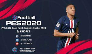منو گرافیک PSG 2020 برای PES 2017 توسط King pes