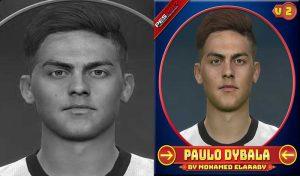 فیس Paulo Dybala V2 برای PES 2017 توسط M.Elaraby