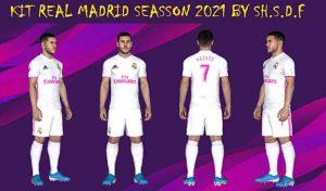دانلود کیت Real Madrid 2021 برای PES 2017 توسط SH.SDF