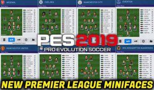 دانلود مینی فیس جدید لیگ انگلیس برای PES 2019 توسط Cesc