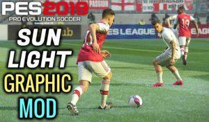 مود گرافیک جدید Sun Light برای PES 2019 توسط Jostike games