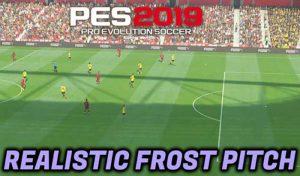 مود گرافیک Realistic Turf Frost Pitch برای PES 2019