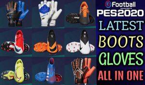 پک کفش و دستکش 2020 In CPK برای PES 2020 توسط TR