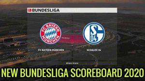 اسکوربورد Bundesliga 2020 برای PES 2020 – فرمت CPK