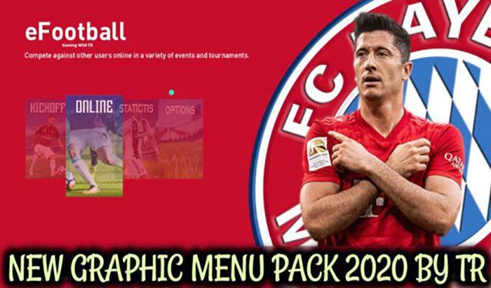 دانلود منو گرافیک پک جدید 2020 برای PES 2020 توسط TR