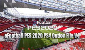 دانلود آپشن فایل Nicoultras V4 برای PES 2020 PS4