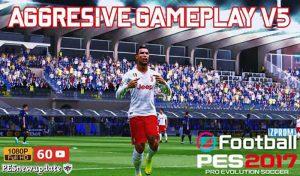 دانلود گیم پلی پچ Aggresive V5 برای PES 2017 توسط Pesnewupdate