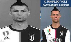فیس Cristiano Ronaldo v5 برای PES 2017 توسط Huseyn