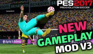 گیم پلی مود جدید v3 برای PES 2017 توسط EsLaM