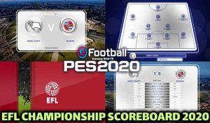 اسکوربورد EFL Championship 2020 برای PES 2020 توسط TR