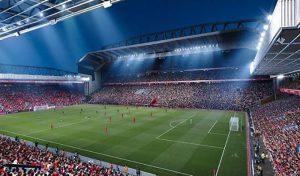 استادیوم و چمن Anfield Road with Frostbite برای PES 2020