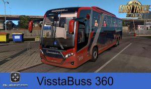 اتوبوس اسکانیا VISSTABUSS 360 V2.5 برای یورو تراک 2