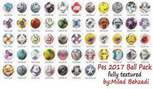 پک توپ فصل 2020 برای PES 2017 توسط Milad Behzadi