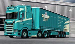 اسکین DE HAAN COMBO برای کامیون VANILLA یورو تراک 2