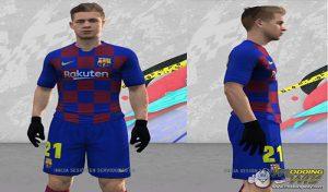 فیس De Jong Frenkie برای FIFA 14 توسط Alexian
