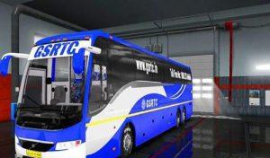 مود اسکین GSRTC برای اتوبوس VOLVO 9700 GRAND یورو تراک 2