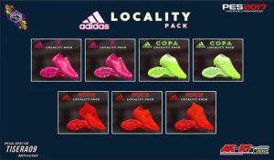 کفش پک Adidas Locality برای PES 2017 توسط AK-RF Mods