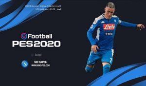 منو گرافیک S.S.C. Napoli برای PES 2017 فصل 2019-2020