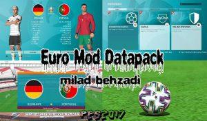 ماد تبدیل منو گرافیک دیتاپک 7 PES 20 برای PES 2017 (مخصوص یورو 2020)