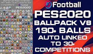 دانلود پک توپ Ball Server Pack V9 برای PES 2020
