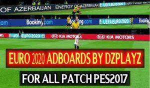 دانلود تابلو تبلیغات یورو 2020 برای PES 2017