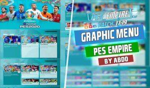 فول منو گرافیک EURO 2020 برای PES 2017 توسط PES Empire