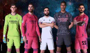 فول کیت پک رئال مادرید فصل 2020/2021 برای PES 2017