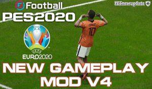 گیم پلی مود جدید v.4 برای PES 2020 توسط gabe.paul.logan